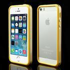 iPhone 5/5s/SE TPU Bumper - Gennemsigtig/Gul