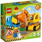 Lego Duplo Lastbil og Gravemaskine på Larvefødder 10812