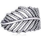 Pandora Pearl Cubic Zirconia Silver Ring - Size O.5 190886CZ-56