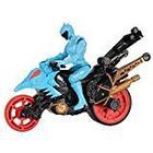 Power Rangers Dino Supercharge Stunt Bike Cycle and Figure (Cyan)