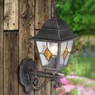 Brilliant Jason - Udendørsvæglampe med rustik charme