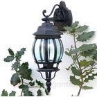 Brilliant Nedadrettet Istria II udendørs væglampe i sort