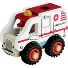 ImageToys Wooden Ambulance with Rubber Wheels