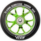 Slamm V-Ten II 110mm Sparkcykel Hjul Komplett (110mm - Grön)