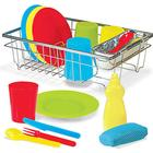 Melissa & Doug Lets Play House Wash & Dry Dish Set