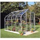 Eden Halls Halls 8x6 Curved Aluminium Greenhouse + Base - Toughened Glass