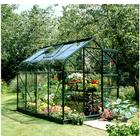 Eden Halls Halls 8x6 Supreme Greenframe Greenhouse + Base - Toughened Glass