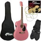 DJM Tiger Pink Electro Acoustic Guitar Pack