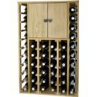 WINEREX vinreol EFREN til 44 flasker + skab i toppen