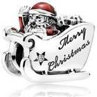 PANDORA Sleighing Santa Charm 792004CZ