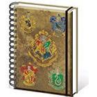 "Harry Potter SR72083 ""Hogwarts Crests A5 Wiro"" Notebook"