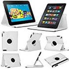 Stuff4® Stuff4 MR-KFHDX8.9-L360-W-STY-SP Leather Smart Case with 360 Degree Rotating Swivel Action and Free Screen Protector/Stylus Touch Pen for 8.9 inch Kindle Fire HDX 8.9 - White