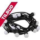 VelLight - Udendørs lyskæde m. 20 varm hvide LED pærer (11,5m) TILBUD NU