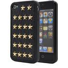 OEM Studded leather pattern FlexiSkal till Apple iPhone 4S/4 (Golden Stars)