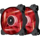 Corsair Air Series AF120 LED Red Quiet Edition 120mm Twin Pack