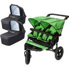 Out N About Nipper V4 Double Buggy Mojito Green and Carrycots