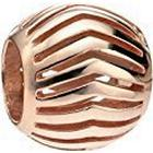 Elements Silver Sterling Silver Rose Gold Plated Open Chevron Bead
