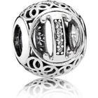 Pandora Vintage I Sterling Silver Charm w. Cubic Zirconia (791853CZ)