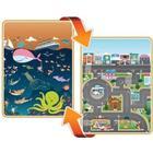 Prince Lionheart Large Reversible Playmat - City amp; Ocean