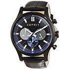 Esprit Mens Quartz Watch, Chronograph Display and Leather Strap ES108251002