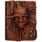 A little Present Embossed Scarfed Woman On A Vintage Leather Cover Case for Kindle 3/Kindle Keyboard/Kindle/Kindle HDX
