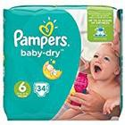 Pampers Baby Dry Nappies Size 6 15 + kg 34 Pieces