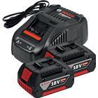 Bosch GAL 1880 CV Laddare + 2st 18V 6,0Ah Batterier