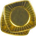 Papperstallrikar Guld Fyrkantiga