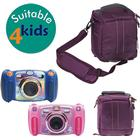 Navitech Purple Protective Portable Handheld Case And Travel Bag For The Vtech Kidizoom Duo Camera