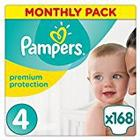 Pampers Premium Protection Nappies Monthly Saving Pack - Size 4, Pack 168