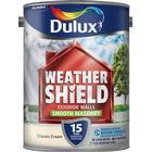 Dulux Weathershield Smooth Masonry Paint 5L - Classic Cream