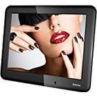 Hama Digitaler Bilderrahmen Slimline Basic (20,32 cm, 8 Zoll, SD/SDHC/MMC/Kartenslot) mit Nachtmodus, Uhr und Kalender, schwarz