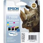 Epson Original T1006 Rhino 33.3ml Extra Value 3 Cartridge Multipack - Date of expiry: December/2018