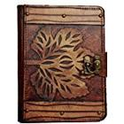 A little Present Old Winter Leaf On A Vintage Leather Cover Case for Kindle 3/Kindle Keyboard/Kindle/Kindle HDX