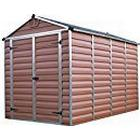 Palram SkyLight Shed 6x10ft Durable Storage - Amber