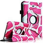 Fintie Giraffe Vegan Leather 360 Degrees Rotating Stand Case Cover for 7 inch Samsung Galaxy Tab 3 - Magenta