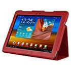 Beyzacases Folio Genuine Leather Case for Samsung Galaxy Tab 10.1 - Red