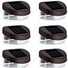 6stk 2LED Solar Lights Vægbelysning Stair Lights Brystning Lights Walkway Lights Udendørs