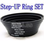 Step-UP Ring Set 49,52,55,58,62,67,72,77mm