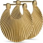 Jane Kønig Small Shell Gold Plated Earrings