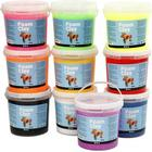 Foam Clay Assorted Colours Clay 10 X 10 X 560g