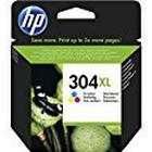 HP 304XL Tri-Colour Original High Capacity Ink Cartridge - ink cartridges (Cyan, Magenta, Yellow, High, HP, DeskJet 3720, DeskJet 3730)