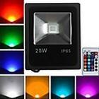20W LED-projektører 1 Højeffekts-LED 1600 lm RGB Fjernstyret Vekselstrøm 85-265 V