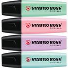 Stabilo Boss Original Pastel Colored Marker 4-pack