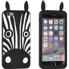 ForCell Soft Silicone 3D Back Case Zebra (iPhone 7)