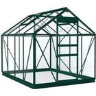 Simplicity Stramshall Greenhouse 6x8 Starter Package Green With Toughened Glass