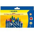 LYRA Wax Crayons 15mm Color 12-pack
