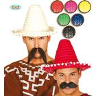 Fiestas Mexicansk strå hat i flere farver - Mexicaner kostumer
