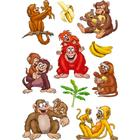 Herma Sticker Magic Monkeys in Action 3D Foil