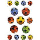 Herma Stickers Magic Coloured Soccer Balls Embossed